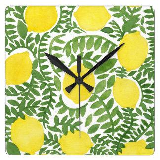 The Fresh Lemon Tree Square Wall Clock