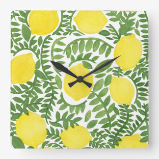 The Fresh Lemon Tree Wall Clock