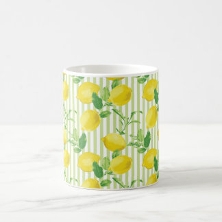 The Fresh Striped Lemon Vector Seamless Pattern Coffee Mug