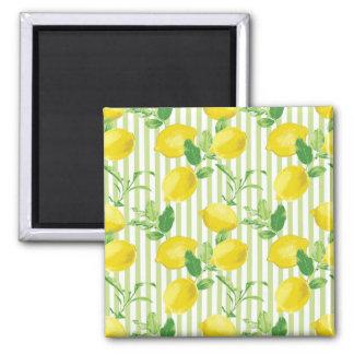 The Fresh Striped Lemon Vector Seamless Pattern Magnet