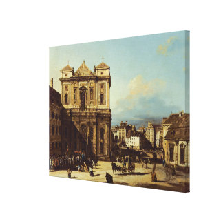 The Freyung in Vienna, view from the Northwest, c. Canvas Print