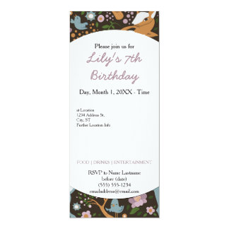 The Friendly Forest 10 Cm X 24 Cm Invitation Card