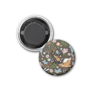 The Friendly Forest 3 Cm Round Magnet