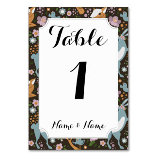 The Friendly Forest Table Cards