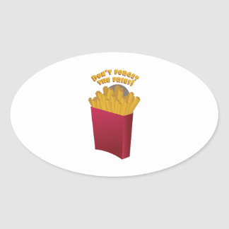 The Fries Oval Stickers