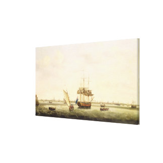The Frigate 'Surprise' at Anchor off Great Yarmout Canvas Print