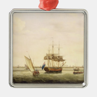 The Frigate 'Surprise' at Anchor off Great Yarmout Christmas Ornament