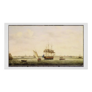 The Frigate 'Surprise' at Anchor off Great Yarmout Poster