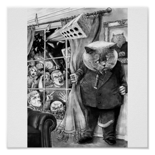 The Frightened Fat Cat Poster
