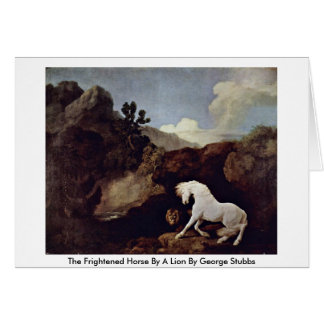 The Frightened Horse By A Lion By George Stubbs Greeting Card