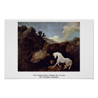The Frightened Horse By A Lion By Stubbs, George Posters