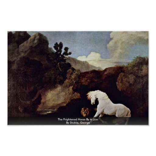 The Frightened Horse By A Lion By Stubbs, George Print
