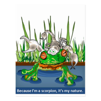 The Frog and Scorpion Postcard