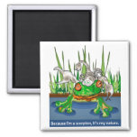 The Frog and Scorpion Square Magnet