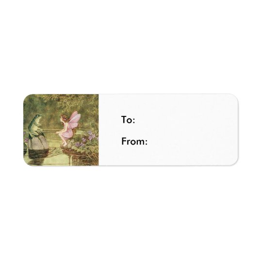 The Frog and the Fairy Return Address Label