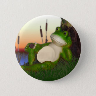 The Frog and the Snail 6 Cm Round Badge