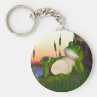 The Frog and the Snail Key Ring