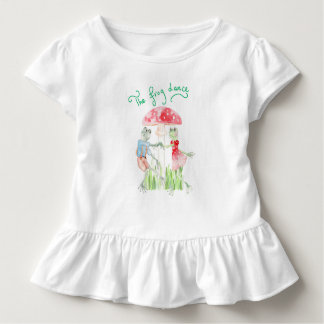 """The Frog Dance"" Toddler Ruffle Tee"