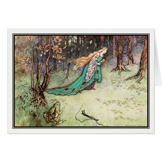The Frog Prince by Warwick Goble Card