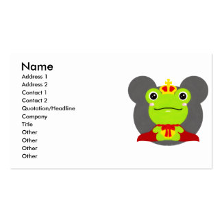 The frog which did not fit a prince pack of standard business cards