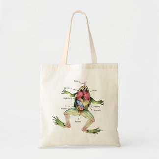 The Frog's Anatomy Illustration Tote Bag