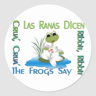 The Frogs Say Ribbit Round Sticker