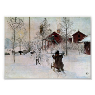 The Front Yard and Wash House in the Snow Poster