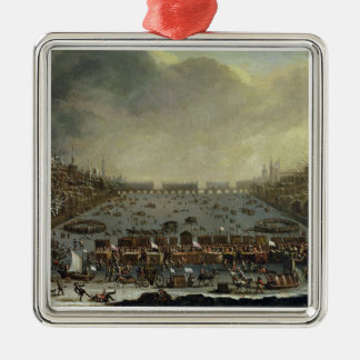 The Frost Fair of the winter of 1683-4 on the Tham Christmas Ornament