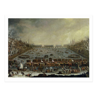 The Frost Fair of the winter of 1683-4 on the Tham Postcard