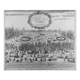 The Frost Fair of the winter of Thames Poster