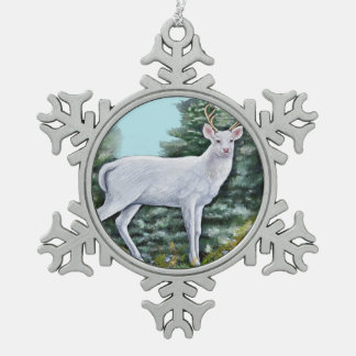 The Frost Hart Snowflake Pewter Christmas Ornament