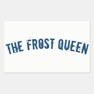 The frost queen rectangular sticker