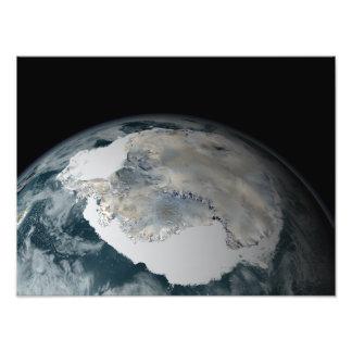 The frozen continent of Antarctica Photo Print