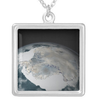 The frozen continent of Antarctica Silver Plated Necklace