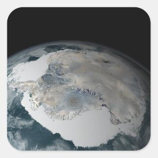 The frozen continent of Antarctica Square Sticker