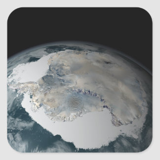 The frozen continent of Antarctica Stickers