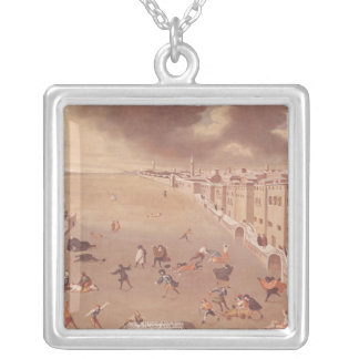 The Frozen Lagoon in 1708 Silver Plated Necklace