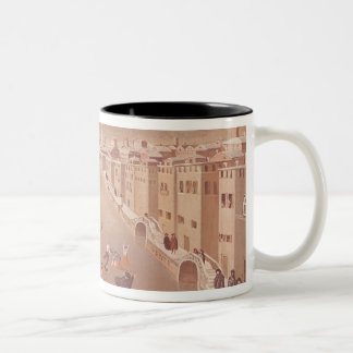 The Frozen Lagoon in 1708 Two-Tone Coffee Mug