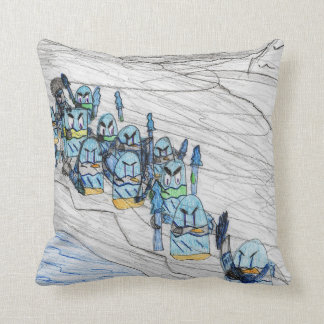 """The Frozen March"" decorative pillow"