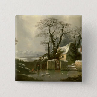 The Frozen Mill Race 15 Cm Square Badge