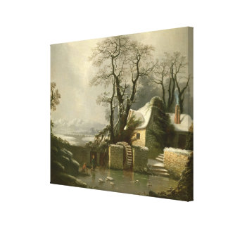 The Frozen Mill Race Canvas Print