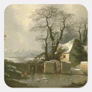 The Frozen Mill Race Square Sticker