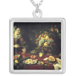 The Fruit Bowl Silver Plated Necklace