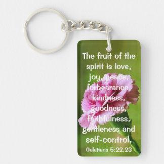 The fruit of the Spirit bible verse Single-Sided Rectangular Acrylic Key Ring
