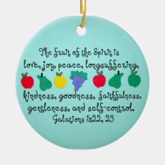 The fruit of the Spirit. Christmas Ornament