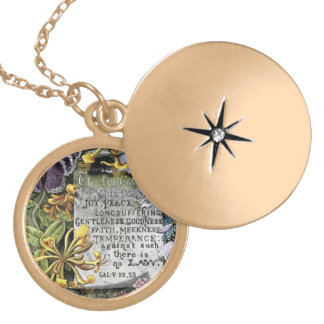 The Fruit Of The Spirit Round Locket Necklace