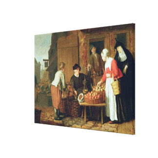 The Fruit Seller Canvas Print