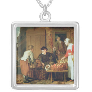 The Fruit Seller Silver Plated Necklace