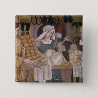 The Fruit Sellers' Stand 15 Cm Square Badge