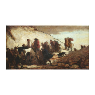The Fugitives or The Emigrants, c.1849-50 Canvas Print